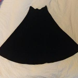 ZARA A-Line Navy Blue Skirt